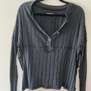 Women's Free People LS Top - Black - Size M